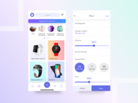 Ecommerce app UI for iOS and Android device
