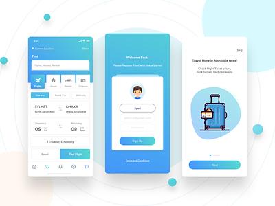 Flight Booking APP UI clean app design ironsketch illustration typography mobile design branding ios android redesign app ux ui