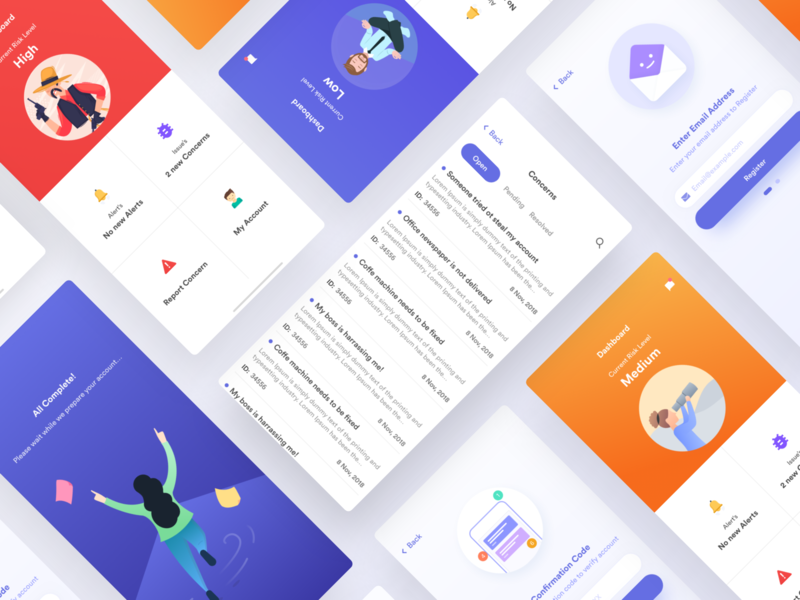 Alert iOS and Android app UI by Syed Miraj for Team