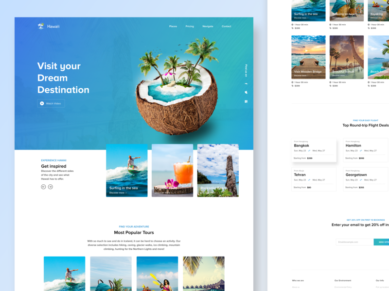 Travel Agency Website >> Travel Agency Web Landing Page By Syed Miraj On Dribbble
