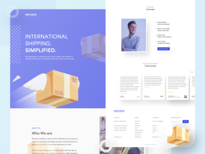 Shipping Website Landing page