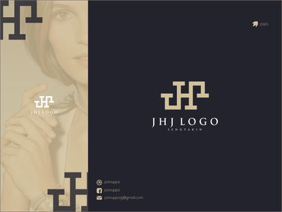 JHJ LOGO logos logotype logomaker ponuppo letter logodesign modern logo brand design awesome logo logo design branding
