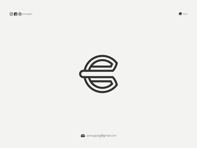 E LOGO logos flatdesign logotype ponuppo logomaker design modern logo brand design logo awesome logo branding