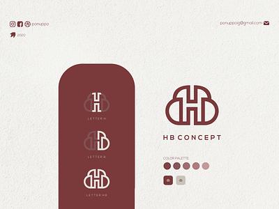 HB CONCEPT poster letter logomaker logodesign modern logo design logotype logo brand design awesome logo branding