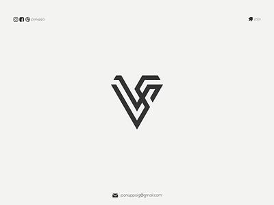 VS LOGO brandmark lettermark ponuppo logotype letter logomaker logodesign modern logo design logo brand design awesome logo branding