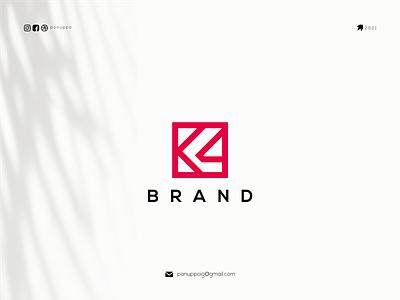 K4 Logo flat illustration flatdesign ponuppo letter logotype logomaker logodesign logo modern logo design brand design awesome logo branding