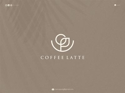 coffe latte ux ui letter logotype logomaker logodesign logo modern logo design brand design awesome logo branding