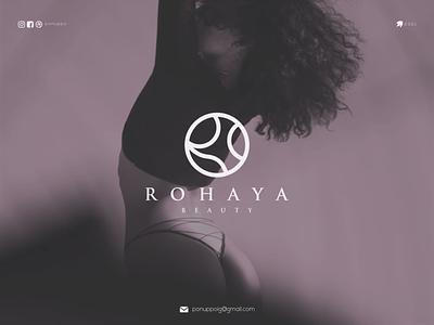 ROHAYA BEAUTY ux ui logo logodesign logotype letter logomaker modern logo design brand design awesome logo branding