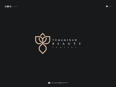 T BEAUTY LOGO ponuppo letter logotype logomaker logodesign logo modern logo design brand design awesome logo branding