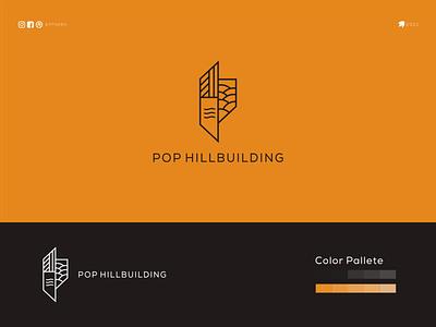 Pop Hillbuilding ponuppo letter logotype logomaker logodesign logo modern logo design brand design awesome logo branding