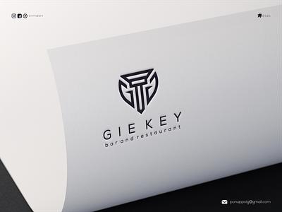 Gie key keylogo ux ui ponuppo letter logotype logomaker logodesign logo modern logo design brand design awesome logo branding