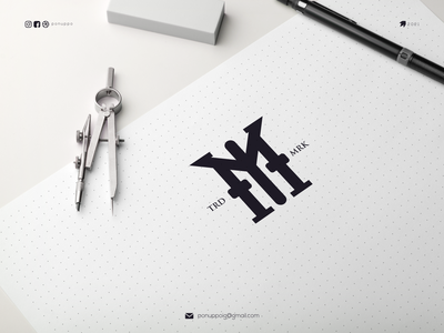 MY monogramym latter logo brandlogo ux ui ponuppo letter logotype logomaker logodesign logo modern logo design brand design awesome logo branding
