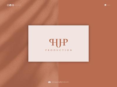 HUP PRODUCTION monogram logo ux ui ponuppo letter logotype awesome logo logomaker logodesign modern logo logo design brand design branding