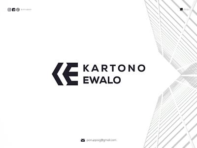 KARTONO EWALO ux ui monogram logo letter logotype awesome logo logomaker logodesign modern logo logo design brand design branding