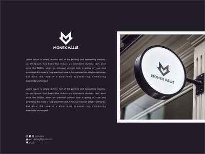 Monex Valis clothing brand logo brand identity monograms logo ideas logo place graphic design logomaker logodesign modern logo logo design brand design branding mv concept