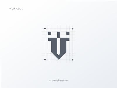 V Concept ui illustration logomaker modern logo logo design brand design branding logodesign sale logo sale logo maker lettering letter v monogram logo logomonogram v logo v logo v concept logo