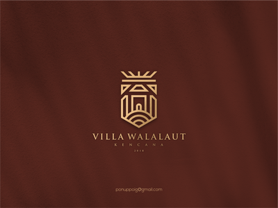 Villa Walalaut lettering brand design illustration logodesign branding logo maker luxury design luxury brand mark monogram w monogram logo monogram concept w logo villa logo