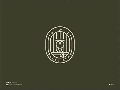 Lineart Owl Logo mascot