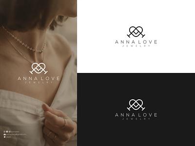 Initial A & Love Logo typhograpy lettering initial logo initial a logo love logo beauty logo royal logo luxury logo logo maker ui vector illustration logodesign modern logo design brand design branding logo jewelry logo