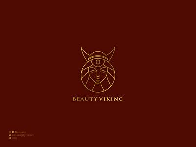 Beauty Viking Logo viking logo initial logo logos logo maker ui vector illustration logomaker logodesign modern logo design logo brand design branding