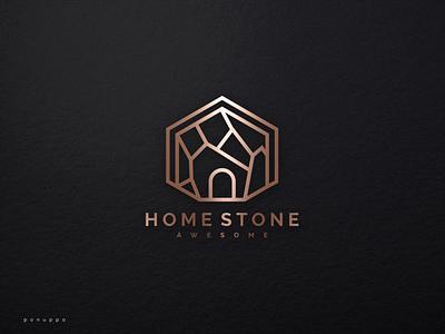Home Stone Logo royal brand brand luxury brand mrak stone ui vector illustration logomaker logodesign modern logo design logo brand design branding