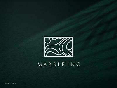 Marble Inc Logo jewelry logo luxury professional logo top logo marble sale logo ui vector illustration logomaker logodesign modern logo design logo brand design branding