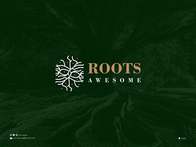 Rootts Logo initial logo monogram logo top logo nature logo jewelry brand mark logo maker sale logo roots logo vector ui illustration logomaker logodesign modern logo design logo brand design branding