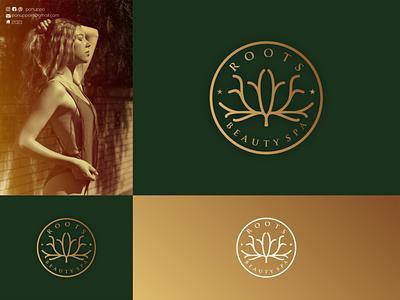 Roots Beauty SPA Concept Logo roots nature logo salon logo beauty logo top logo brand mark luxury logo jewelry logo typography sale logo ui vector illustration logomaker logodesign modern logo design logo brand design branding