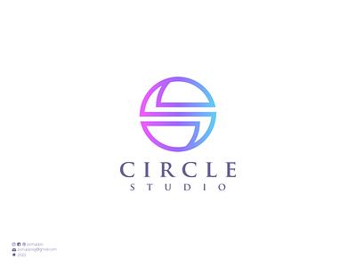 Circle Studio top logo sale logo logo maker simple logo circle letter o ui vector illustration logomaker logodesign modern logo logo design brand design branding