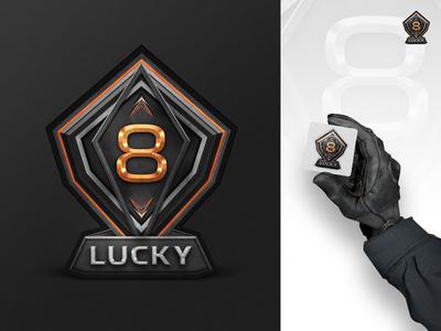 Lucky 8 Sticker