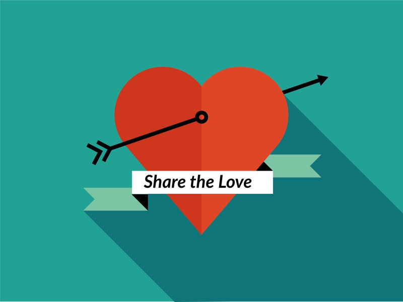Share the Love simple share love vector design