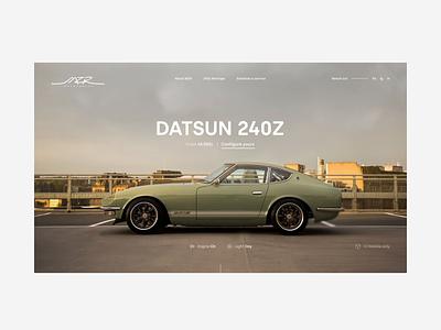 MZR – Homepage cold start car clean ui minimal interface ux minimalist web automotive datsun 240z nissan z proto night animation 400z transitions loading dark