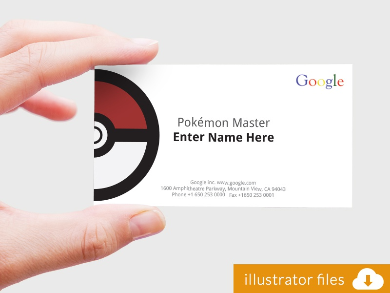 Pokémon Master Business Card Google Challenge By Miguel Pimentel - Google business card template