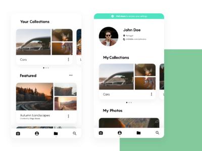 Unplash Concept - Profile & Collections