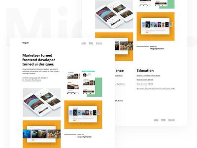 Personal Portfolio site ux grid cv resume shots portfolio website minimal interface web ui clean