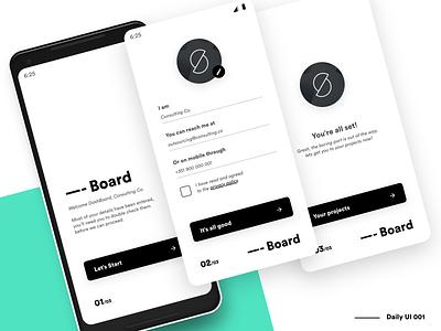 Dashboard - Signup - DailyUi 001 daily dailyui minimalist platform application dashboard dash ux web interface minimal app ui clean