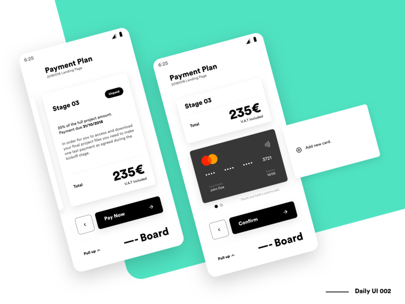 Dashboard - Credit Card checkout - DailyUi 002 payment checkout credit card ui web ux platform minimalist minimal interface dashboard dash dailyui daily clean application app
