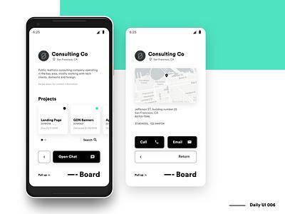 Dashboard - Client Profile - DailyUi 006 clients client profile web ux ui platform minimalist minimal interface dashboard dash dailyui daily clean application app