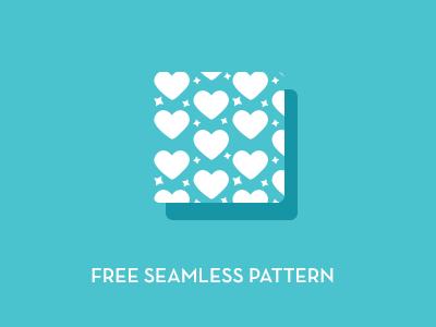 Hearts and Stars Free Seamless Pattern free seamless pattern miminal flat resource
