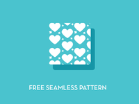 Hearts and Stars Free Seamless Pattern