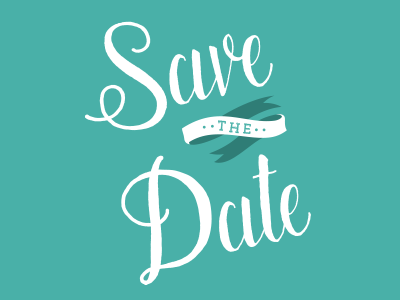 Save the Date Lettering hand-lettering wedding invitation lettering
