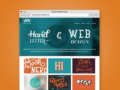 Website Redesign website lettering web design
