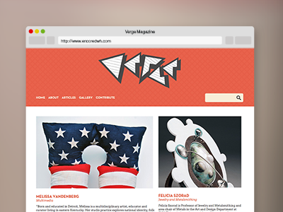 Verge Website website web design