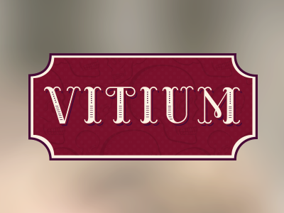 Vitium Photography Logo illustration lettering logo red vintage