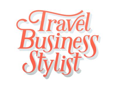 Travel Business Stylist logo lettering orange elegant