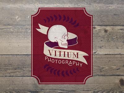 Vitium Photography Watermark lettering illustration skull watermark
