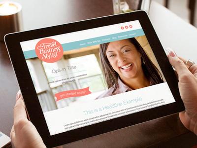 Travel Business Stylist Website website responsive mobile modern flat clean