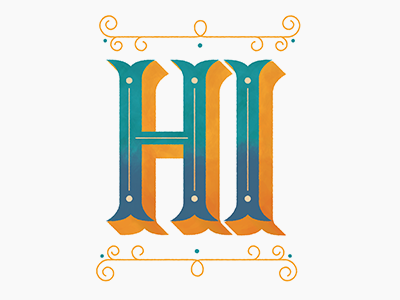 Why Hello There lettering typography retro flourish handdrawn hand lettered illustrated type