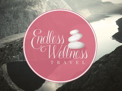 Endless Wellness Travel Logo custom typography logo hand-lettered