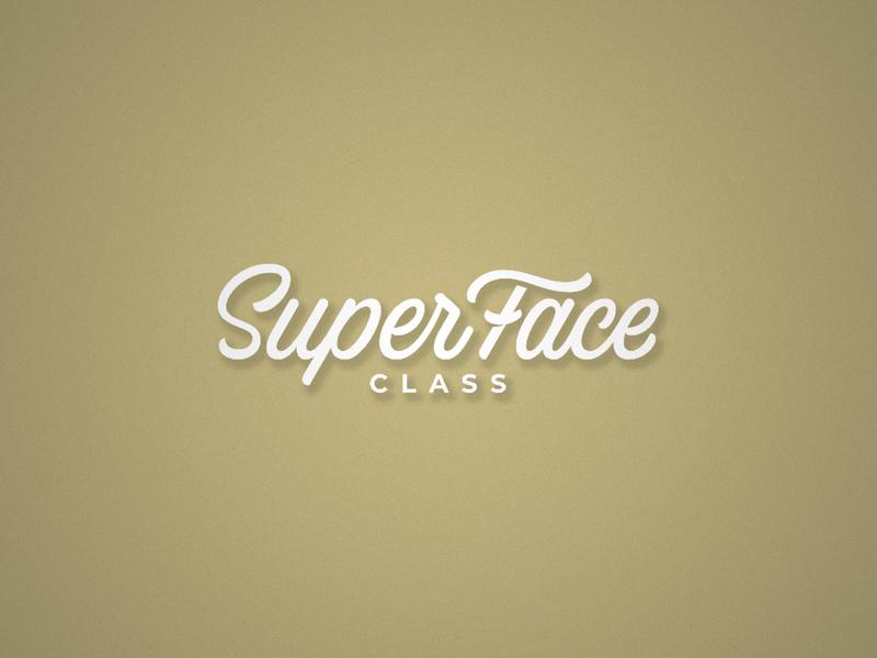 Super Face logo calligraphy handmade face script lettering vector brushpen type branding typography logo